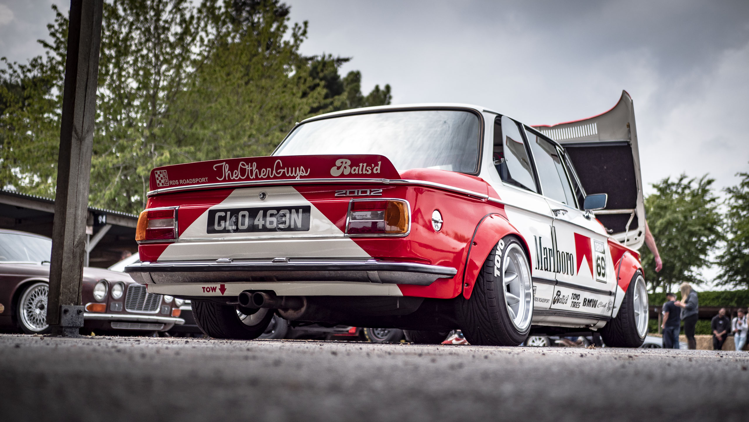 Retro rides weekender 2019 BMW Race car back
